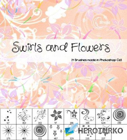 Кисти для фотошопа - Цветочные завитки