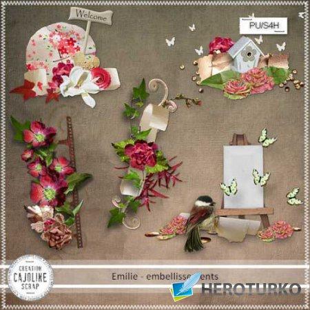 Цветочный скрап-комплект - Эмили