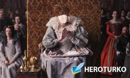 Шаблон psd женский - Королева в старинном наряде