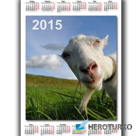 Календарь - Задумчивая коза