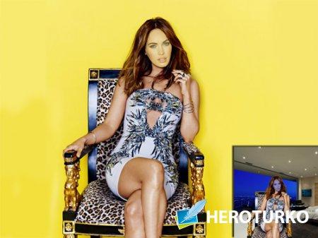 Шаблон для Photoshop - На троне в платье