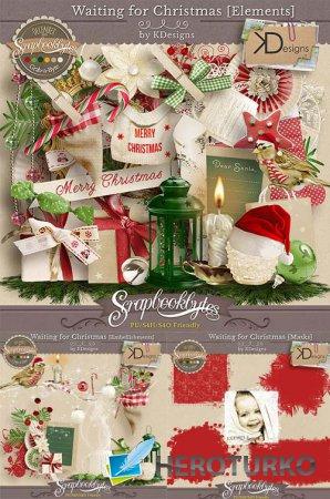Зимний скрап-набор - в ожидании рождества