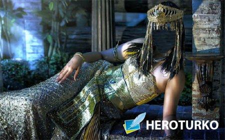 Шаблон для фотошопа - Египетская царица в платье