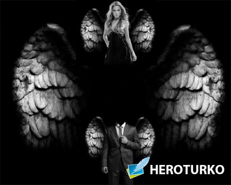 Шаблон для Photoshop - Небесные крылья
