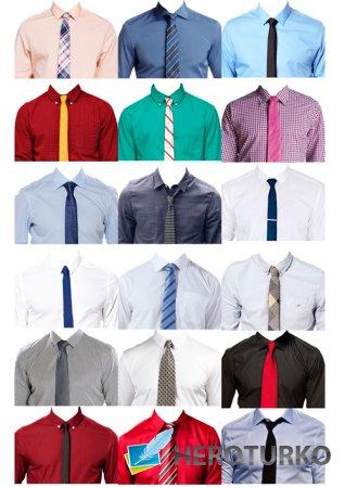 Шаблоны для фотошопа  - Рубашки с галстуком