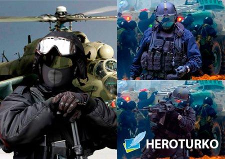Шаблоны для фотошопа  - Служу в спецназе