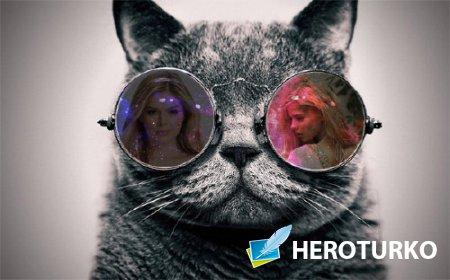 Рамка к фото - Отражение в очках