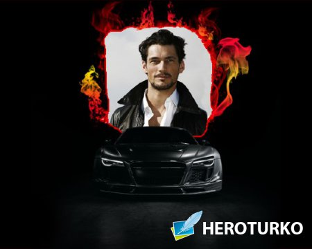 Рамка для мужчин - Черная Audi