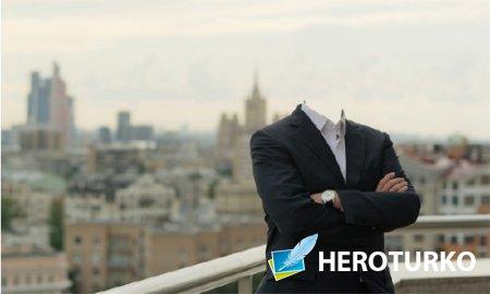 Шаблон для фото - Богатый бизнесмен в Москве