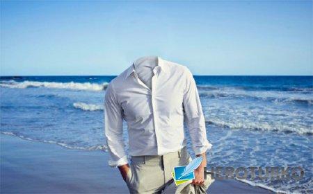 Шаблон для Photoshop - Прогулка по пляжу