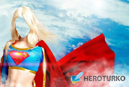 Шаблон psd - Superwoman