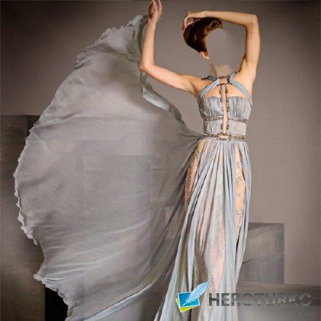 Фото шаблон - Фотосессия в шикарном платье