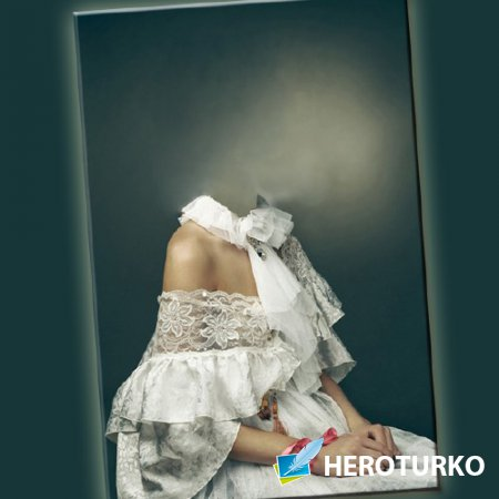 Шаблон для фото - В белом платье