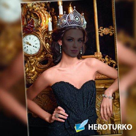 Женский фото шаблон - Милая королева