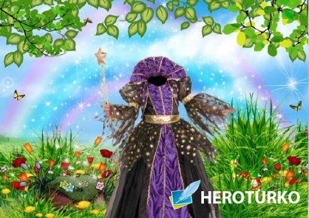Шаблон для photoshop - Костюм маленькой принцессы