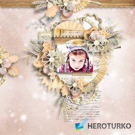 Новогодний скрап-набор - Винтажное Рождество