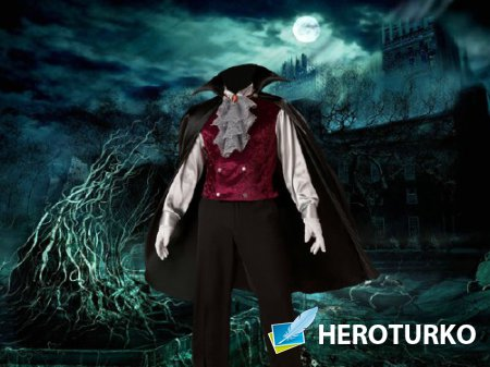 Шаблон для фотомонтажа - В костюме вампира