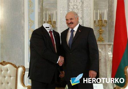 Photoshop шаблон - С Лукашенко на встрече