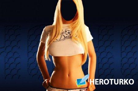 Шаблон женский - Стройная блондинка