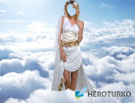 Шаблон для Photoshop - Афродита на небесах