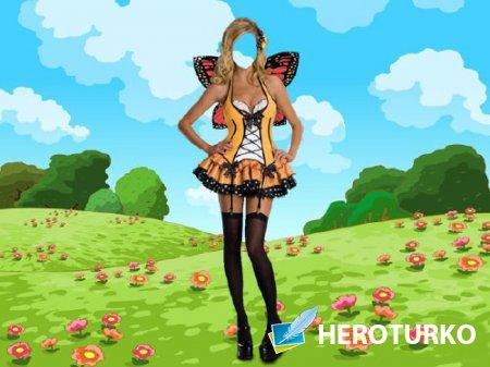 Photoshop шаблон - Сказочная фея