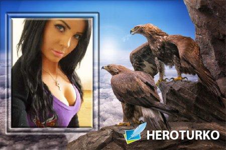 Рамка для фотошопа - Два орла на скале