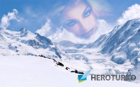 Рамка для фотографии - Прекрасная зима в горах