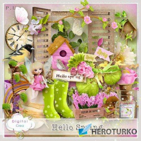 Весенний скрап-набор - Здравствуй весна