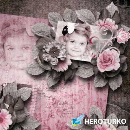 Винтажный скрап-набор - Parfum de Rose