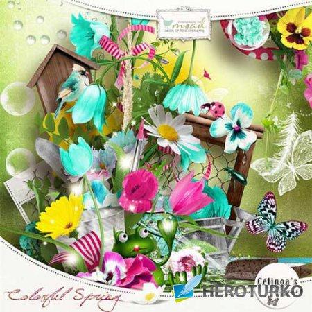 Весенний скрап-набор - Красочная весна