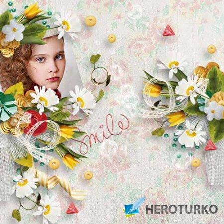 Цветочный скрап-набор - Весенние цветы