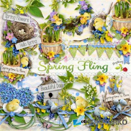 Весенний скрап-набор - Весеннее безумие