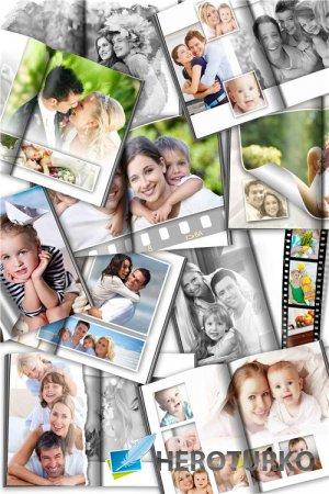 Универсальная фотокнига с черно-белым эффектом