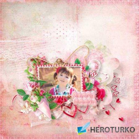 Романтический скрап-набор - Pink'N'Roses