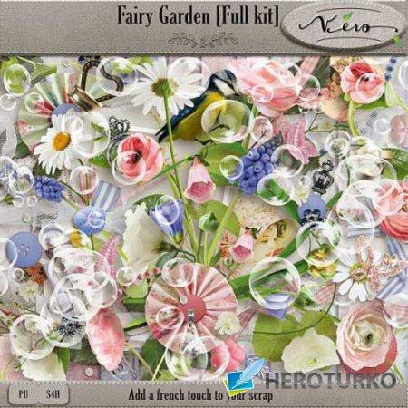 Цветочный скрап-набор - Сказочный сад
