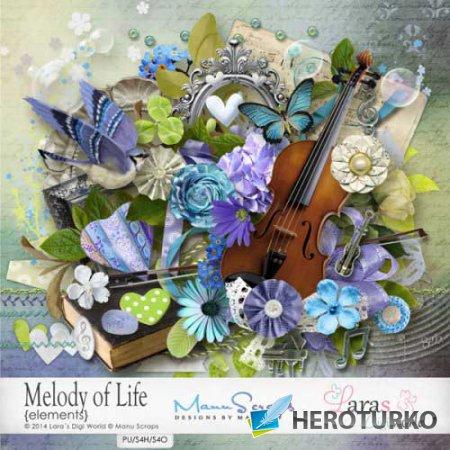 Романтический скрап-набор - Мелодия жизни