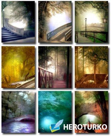 Фоны для творческих работ – Мосты, природа