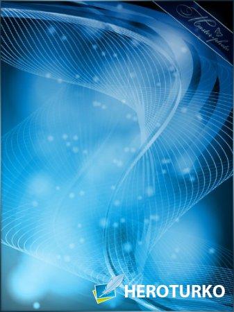 PSD исходник для фотошопа - Синий свет