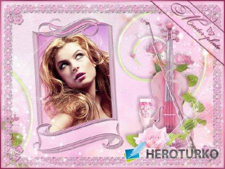 Романтическая рамка для фотошопа - Розовые мечты