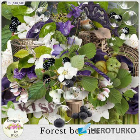 Летний скрап-набор - Лесные ягоды
