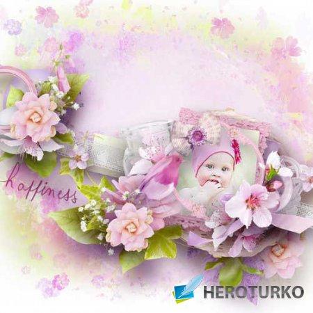 Цветочный скрап-набор - Роза
