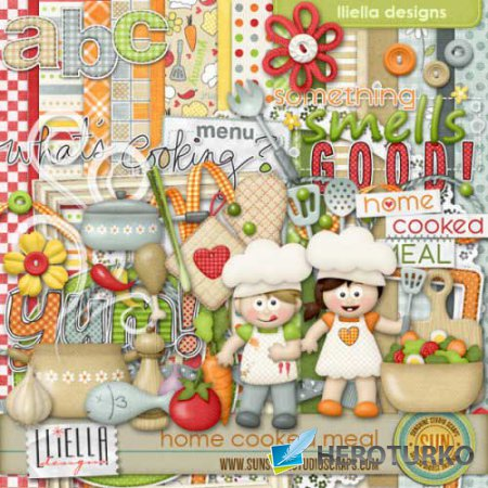 Детский скрап-набор - Домашняя еда