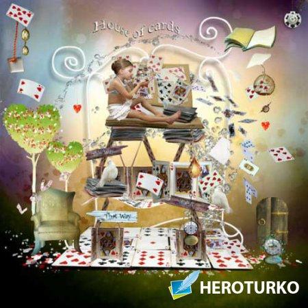Детский скрап-набор - Карточный дом