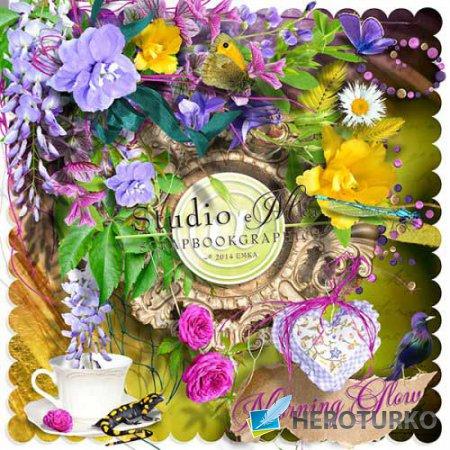 Цветочный скрап-набор - Утреннее сияние