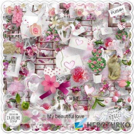 Романтический скрап-набор - Моя прекрасная любовь