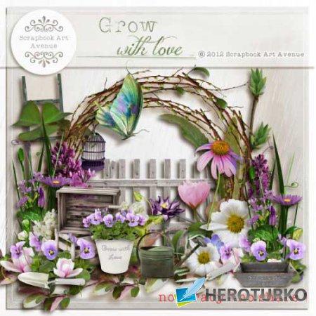 Весенний скрап-набор - Расти с любовью