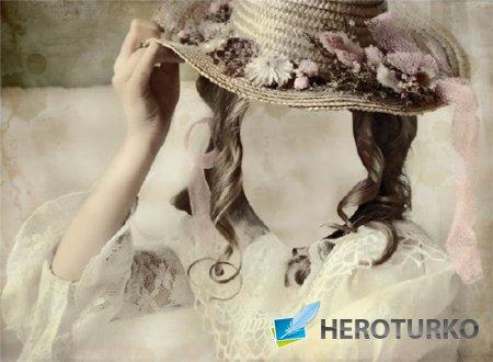 Фотошаблон - Девушка в старинном платье