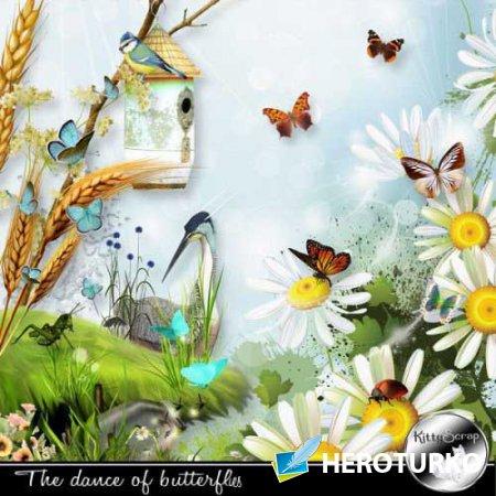 Летний скрап-набор - Танец бабочек