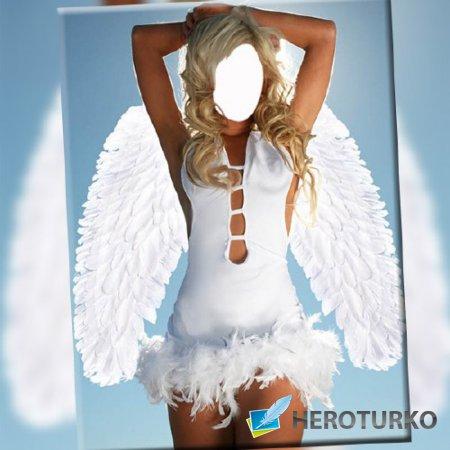 Шаблон для фотомонтажа - Просто ангел
