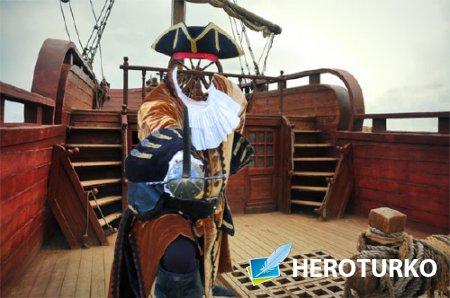 Шаблон для фото - На палубе корабля